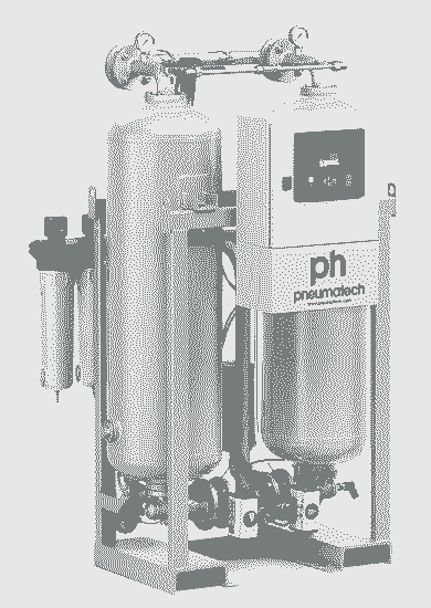 Adsorptionstørrer Pneumatech 9000 ltr/min. Max 14,5 Bar.