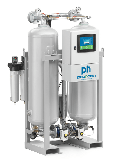 Adsorptionstørrer Pneumatech 21600 ltr/min. Max 16 Bar.