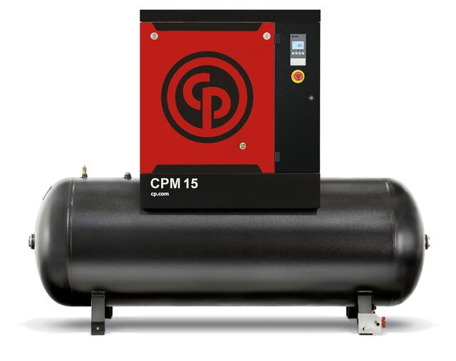 Skruekompressor Chicago Pneumatic CPM 15kw 8 bar 500 ltr. Beh.